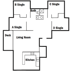 Four Person Apartments