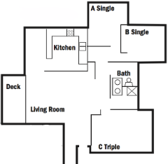Image Of Five Person Apartment Floor Plan